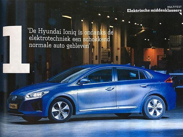 Hyundai Ioniq Electric Wint Grote Test Met Elektrische Auto S Bij