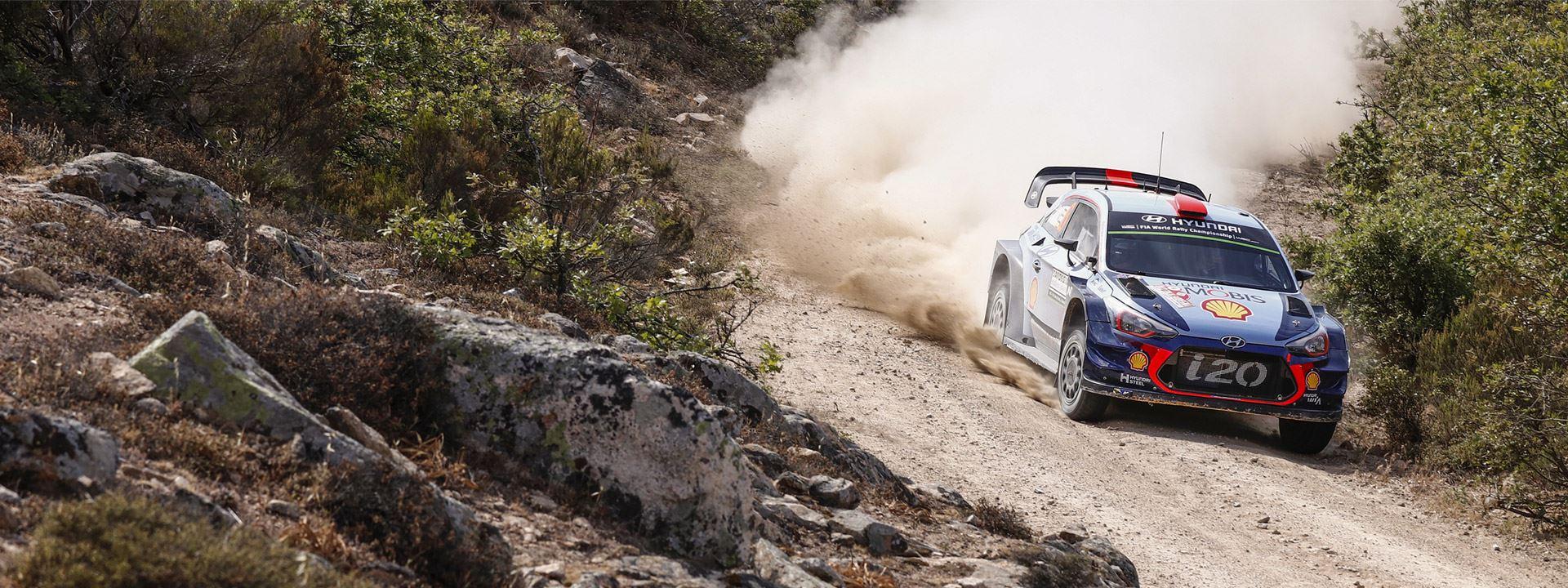 Rallyrijders Hyundai bezig aan een indrukwekkende opmars