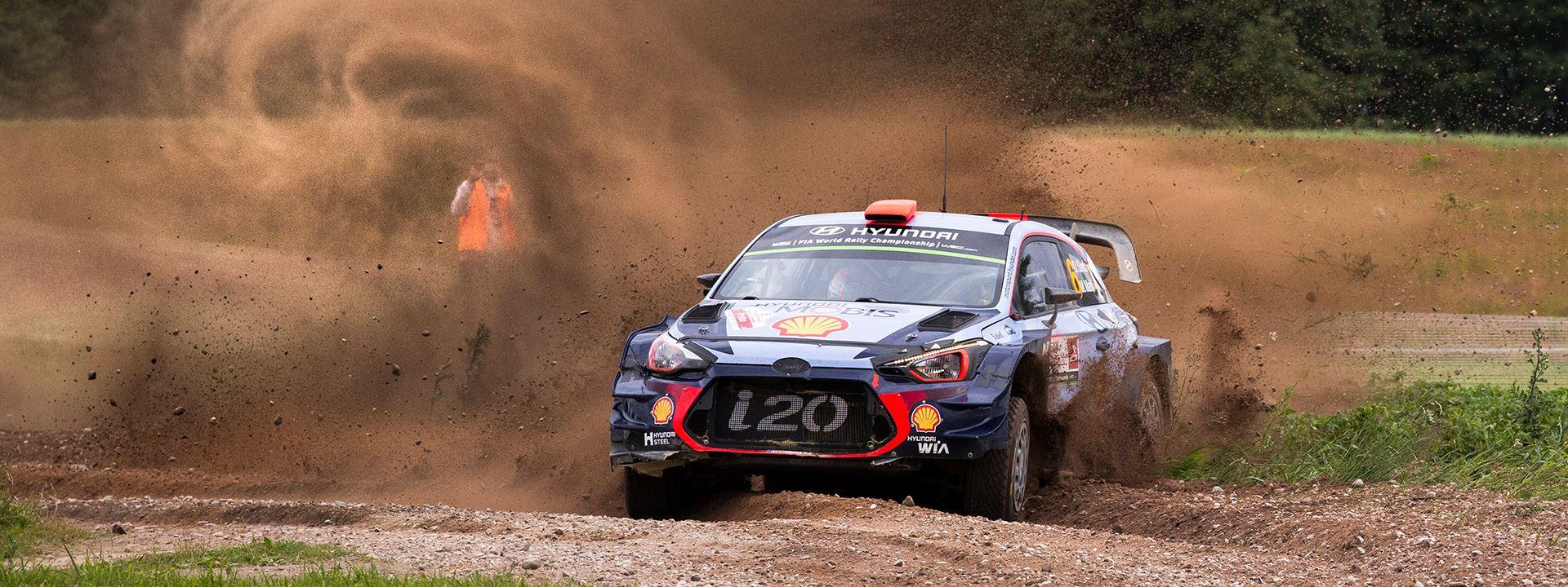 Rally van Finland Hyundai vecht voor nr1 positie