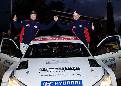 Bob de Jong in Hyundai i20 R5 tweede in Twente Rally