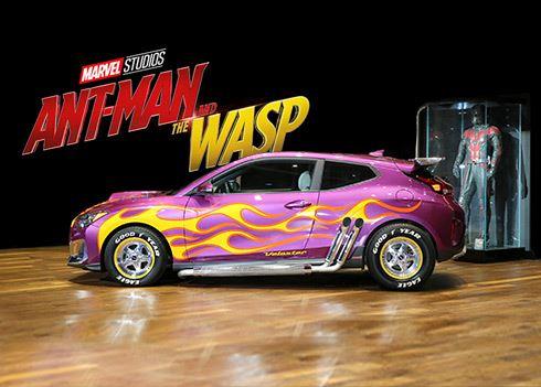 Nieuwe Hyundai Veloster maakt Hollywood-debuut in film Ant-Man & The Wasp