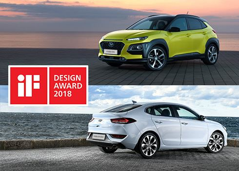 iF Design Awards voor Hyundai i30 Fastback en KONA