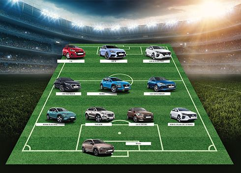 De favoriete opstelling van Hyundai