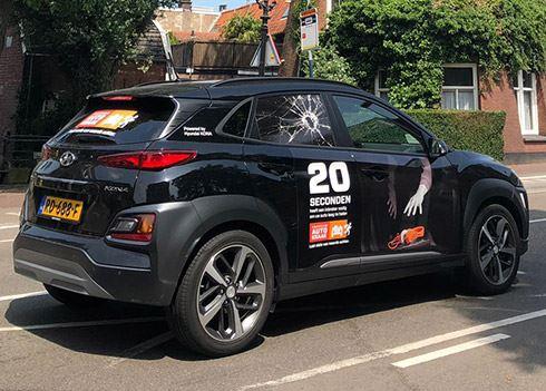 Hoofdrol voor Hyundai KONA in autokraak campagne