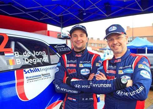 Sterke start Bob de Jong in rallyauto Hyundai i20 R5