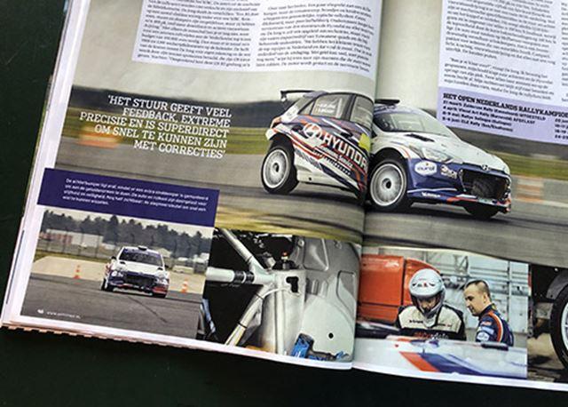 'Heerlijk meedogenloos schakelwerk' in een rallyauto Hyundai i20 R5