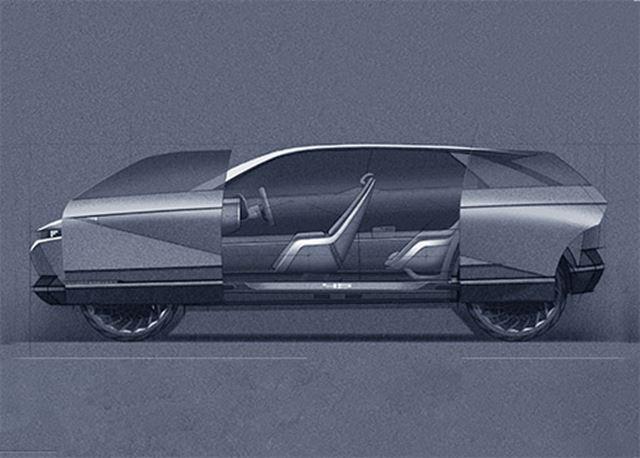 45 Concept: elektrisch, dubbele schuifdeuren en draaiende voorstoelen